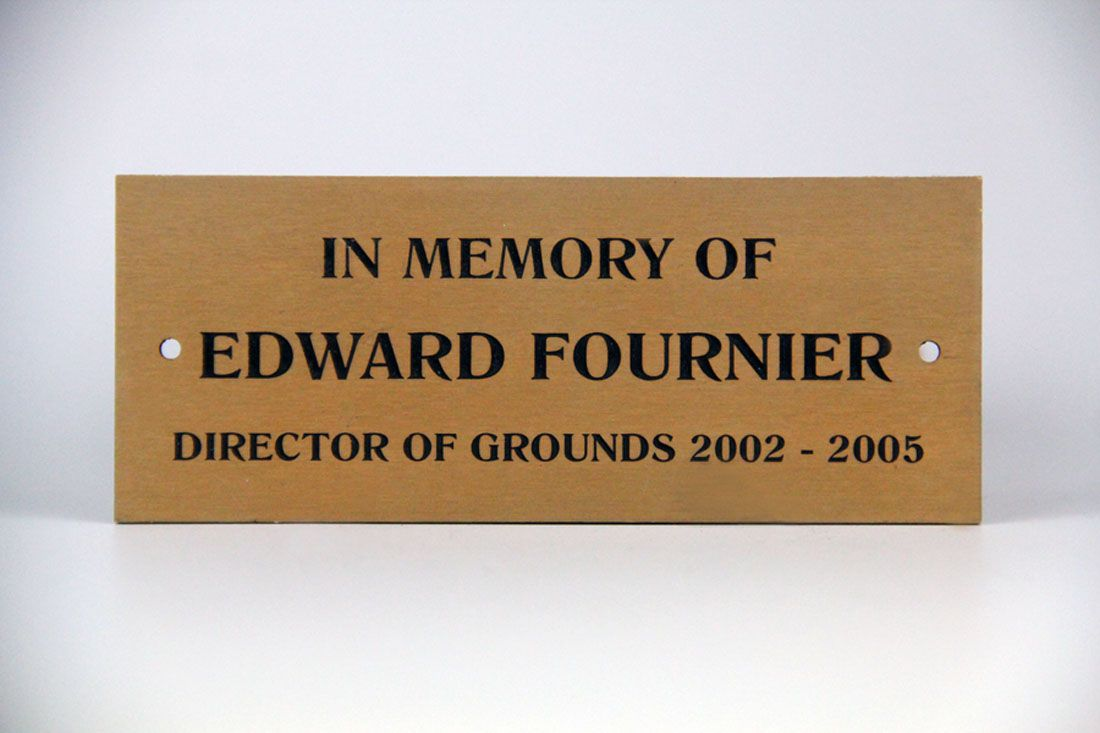 Attractive Click To Enlarge Image Park Bench Plaque Fornier Bronze White  ...