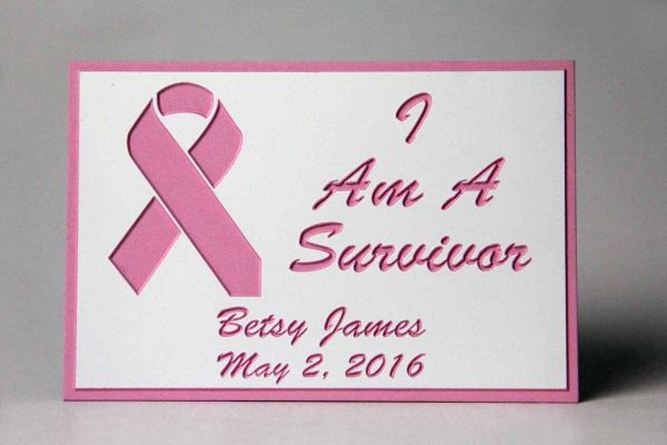 Commemorate Cancer Survival with a Celebratory Plaque